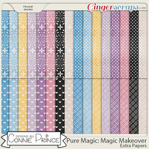PureMagic: Magic Makeover - Extra Papers by Connie Prince