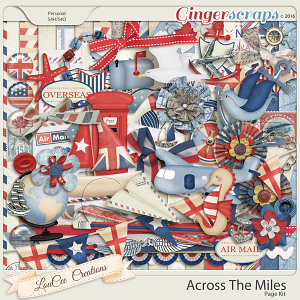 Across The Miles Page Kit
