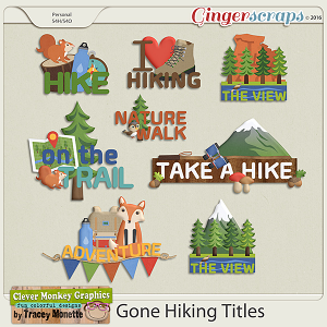 Gone Hiking Titles by Clever Monkey Graphics