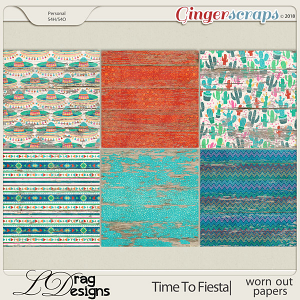 Time To Fiesta: Worn Out Papers by LDragDesigns