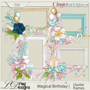 Magical Birthday: Cluster Frames by LDragDesigns