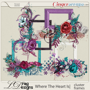 Where The Heart Is: Cluster Frames by LDragDesigns