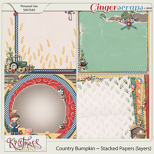 Country Bumpkin Stacked Papers (layers)