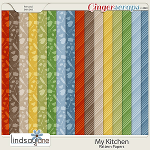 My Kitchen Pattern Papers by Lindsay Jane