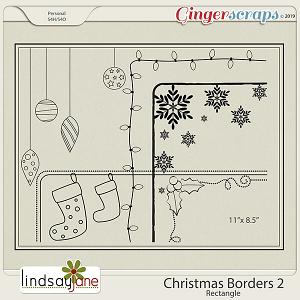 Christmas Borders Rec 2 by Lindsay Jane