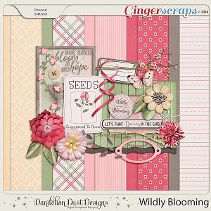 Wildly Blooming Digital Scrapbook Kit By Dandelion Dust Designs