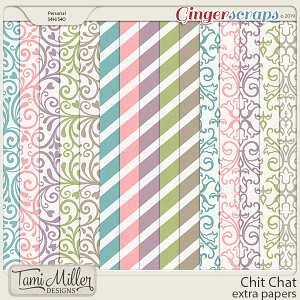 Chit Chat Extra Papers by Tami Miller Designs