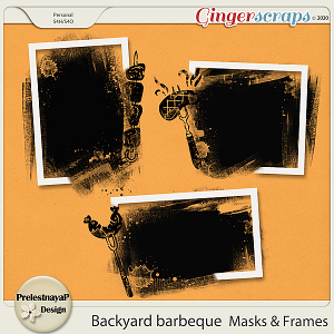 Backyard barbeque Masks & Frames