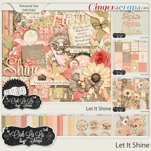 Let It Shine Digital Scrapbooking Bundle