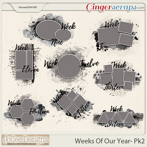 Weeks Of Our Year Masks - Pack 2