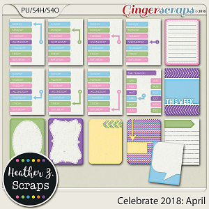 Celebrate 2018: April JOURNAL CARDS by Heather Z Scraps