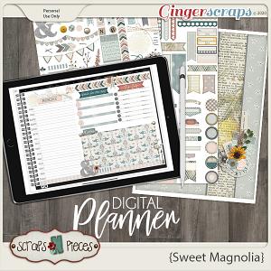 Sweet Magnolia Planner Pieces - Scraps N Pieces