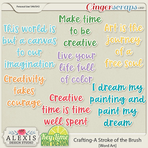 Crafting_A Stroke of the Brush Word Art by Alexis Design Studio and Key Lime Digi Design