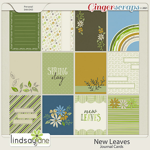 New Leaves Journal Cards by Lindsay Jane