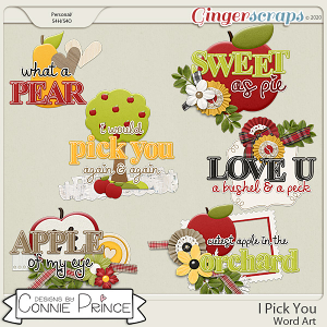 I Pick You - Word Art Pack by Connie Prince