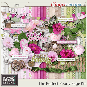 The Perfect Peony Page Kit by Aimee Harrison