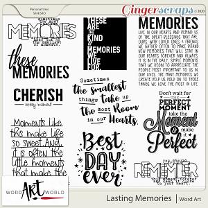 Lasting Memories Word Art