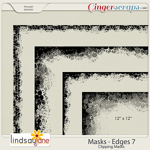 Masks Edges 7 by Lindsay Jane