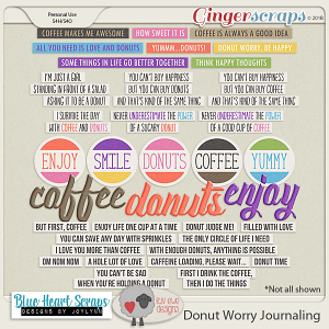 Donut Worry Journaling by Luv Ewe Designs and Blue Heart Scraps