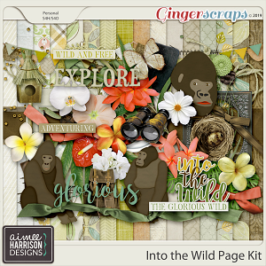Into the Wild Page Kit by Aimee Harrison