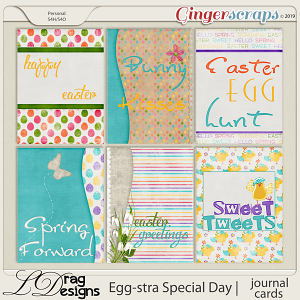Egg-stra Special Day: Journal Cards by LDragDesigns