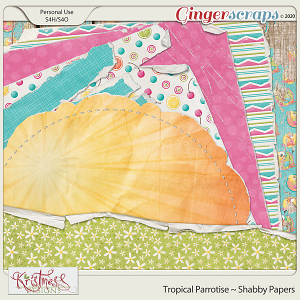 Tropical Parrotise Shabby Papers