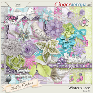 Winter's Lace Page Kit