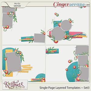 Single Page Layered Templates ~ Set3