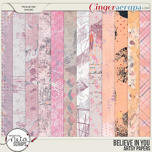 Believe in You - Artsy Papers - by Neia Scraps