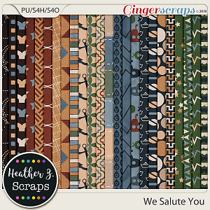 We Salute You PAPERS by Heather Z Scraps