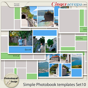 Simple Photobook templates Set 10
