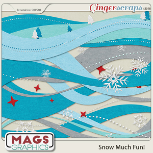 Snow Much Fun BORDERS by MagsGraphics