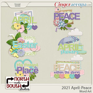 2021 April: Peace Wordart by North Meets South Studios