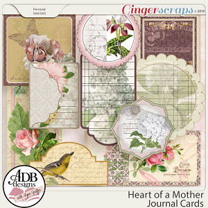 Heart of a Mother Journal Cards by ADB Designs