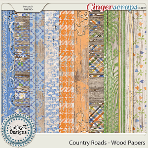 Country Roads - Wood Papers by CathyK Designs