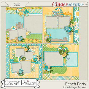 Beach Party - QuickPages by Connie Prince