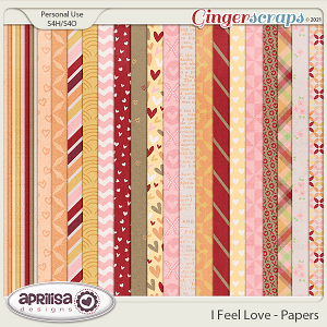 I Feel Love - Papers by Aprilisa Designs