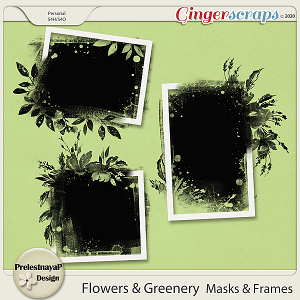 Flowers and Greenery Masks & Frames