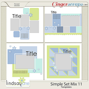 Simple Set Mix 11 Templates by Lindsay Jane