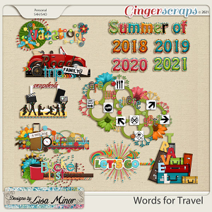 Words for Travel from Designs by Lisa Minor