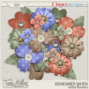 Remember When Extra Flowers by Tami Miller Designs