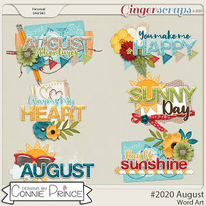 #2020 August - Word Art Pack by Connie Prince