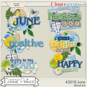 #2018 June - Word Art Pack by Connie Prince