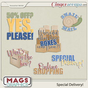 Special Delivery WORD ART by MagsGraphics