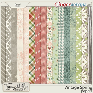 Vintage Spring Papers by Tami Miller Designs
