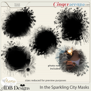In The Sparkling City Masks by ADB Designs