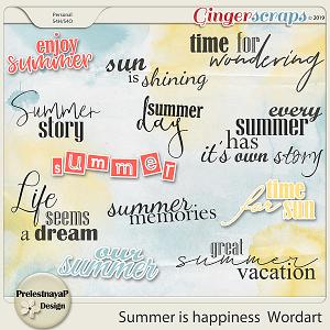 Summer is happiness Wordart