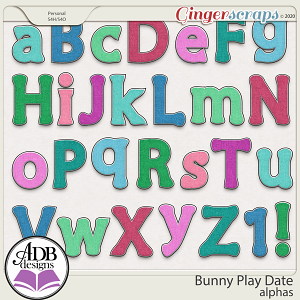 Bunny Play Date Alphas by ADB Designs