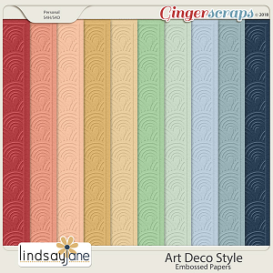 Art Deco Style Embossed Papers by Lindsay Jane