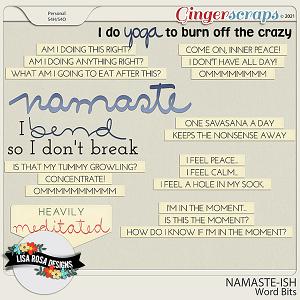 Namaste-ish - Word Bits by Lisa Rosa Designs